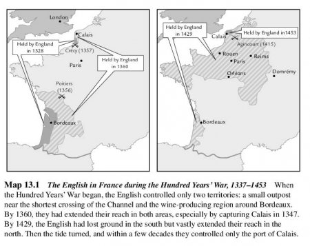 The English in France during the Hundred Years' War, 1337-1453
