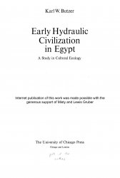 Early Hydraulic Civilization in Egypt: A Study in Cultural Ecology