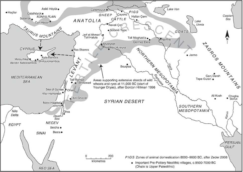 Agriculture initiated by indigenous peoples, not Fertile ... |Fertile Crescent Population Density