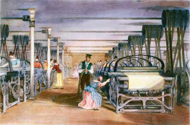 Lowell Mill Girls and the factory system, 1840