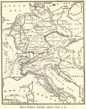 Holy Roman Empire, 1000 CE