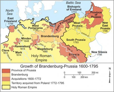 Growth of Brandenburg-Prussia, 1600-1795