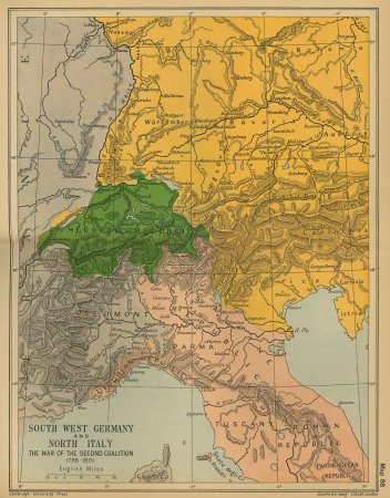 South West Germany and North Italy: The War of the Second Coalition 1798-1801